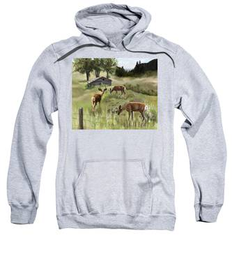 Sweatshirt featuring the painting The Calm by Susan Kinney