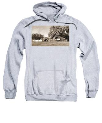 Sweatshirt featuring the painting Timeworn by Susan Kinney