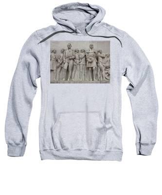Travis And Crockett On Alamo Monument Sweatshirt