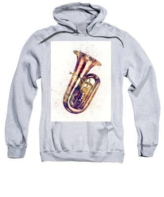 Tuba Abstract Watercolor Sweatshirt
