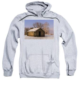 Valley Forge Cabin At Sunset Sweatshirt