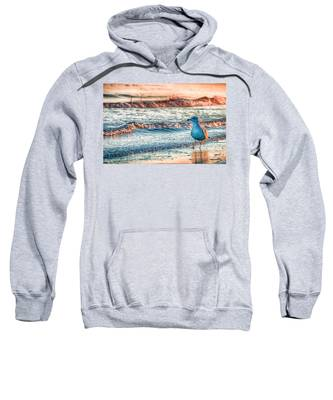Beach Waves Hooded Sweatshirts T-Shirts