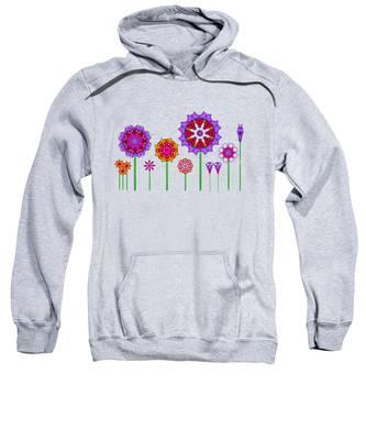 Whimsical Fractal Flower Garden Sweatshirt