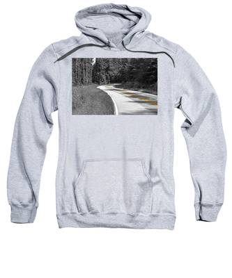 Winding Country Road In Selective Color Sweatshirt