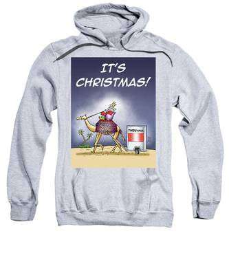 Sweatshirt featuring the digital art Wise Man Trailer by Mark Armstrong