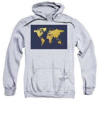 World Map Gold Foil Sweatshirt