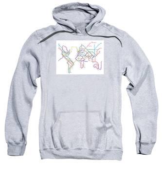 World Metro Tube Map Sweatshirt