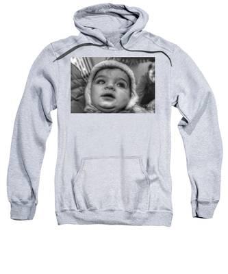 Youth In A Fleece Lined Cap Sweatshirt