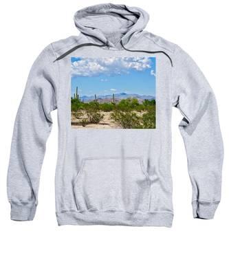 Sweatshirt featuring the photograph Arizona Desert Hidden Valley by Judy Kennedy