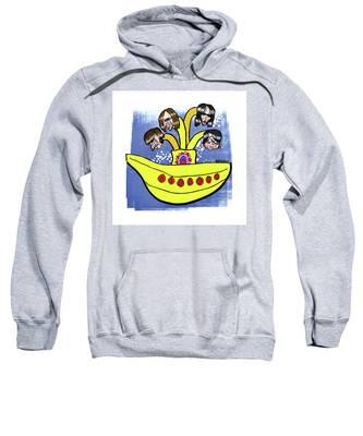 Banana Submarine Sweatshirt by Mark Armstrong