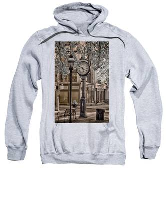 Clock On Street Sweatshirt