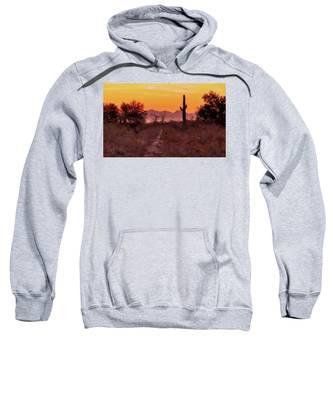 Desert Sunrise Trail Sweatshirt by Judy Kennedy