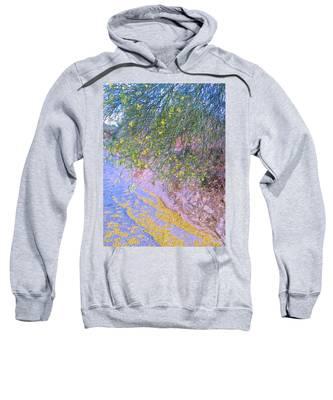 Sweatshirt featuring the photograph Golden Petals In A Desert Wash by Judy Kennedy