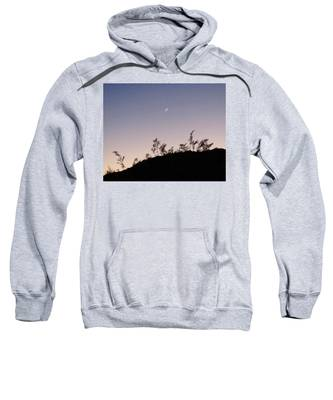 Sweatshirt featuring the photograph Libra Twilight Crescent by Judy Kennedy
