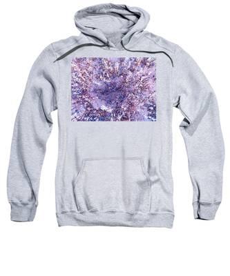Nature's Purple Heart Sweatshirt by Judy Kennedy