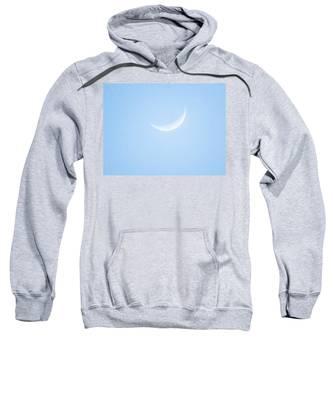 Pale Taurean Crescent Sweatshirt by Judy Kennedy