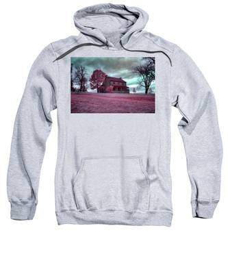 Rose Farm In Infrared Sweatshirt