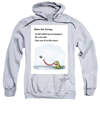 Rules For Living Sweatshirt by Mark Armstrong