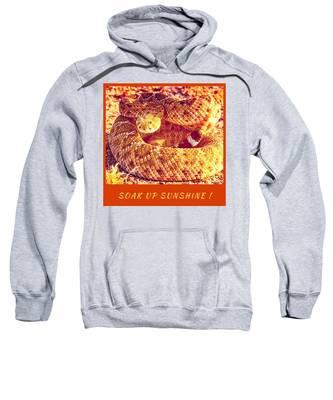 Sweatshirt featuring the photograph Soak Up Sunshine by Judy Kennedy