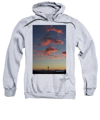 Space Needle And Pink Clouds Sweatshirt