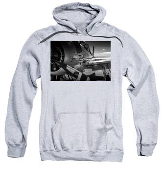 T-28b Trojan In Bw Sweatshirt