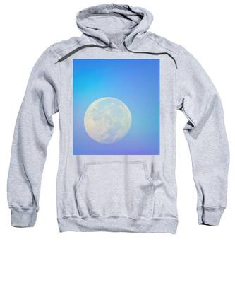 Sweatshirt featuring the photograph Taurus Almost Full Moon Blend by Judy Kennedy