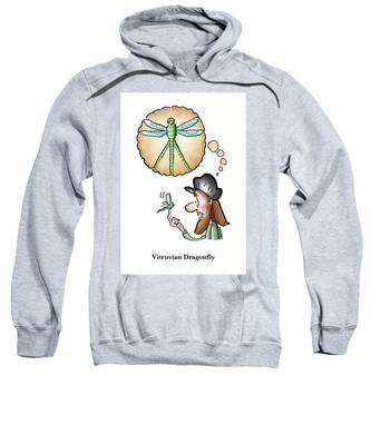 Vitruvian Dragonfly Sweatshirt by Mark Armstrong