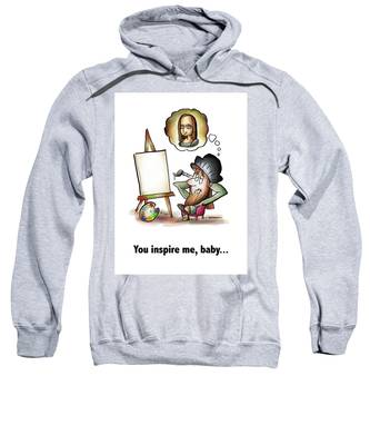 You Inspire Me Sweatshirt by Mark Armstrong