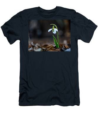Men's T-Shirt (Athletic Fit) featuring the photograph Snowdrop Flower by Michael Goyberg