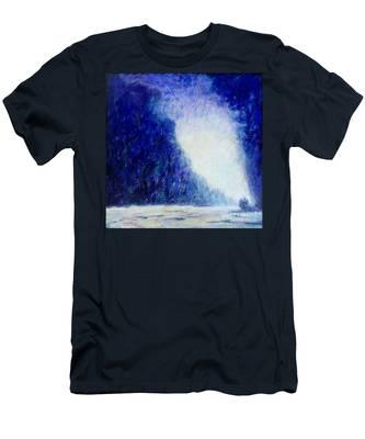 Blue Landscape - Abstract Men's T-Shirt (Athletic Fit)