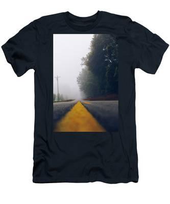 Fog On Highway Men's T-Shirt (Athletic Fit)