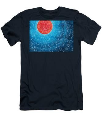 Summer Sun Original Painting Men's T-Shirt (Athletic Fit)