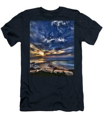 Tel Aviv Sunset At Hilton Beach Men's T-Shirt (Athletic Fit)