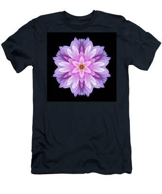 Violet Dahlia I Flower Mandala Men's T-Shirt (Athletic Fit)