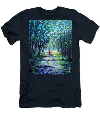 Walking In The Park Men's T-Shirt (Athletic Fit)