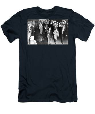Men's T-Shirt (Athletic Fit) featuring the photograph We Want Beer by Bill Cannon
