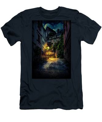 A Wet Evening In Marburg Men's T-Shirt (Athletic Fit)