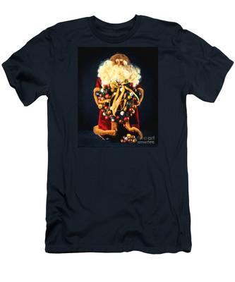 Here Comes Santa Men's T-Shirt (Athletic Fit)
