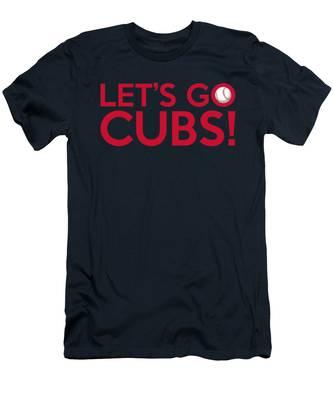 Let's Go Cubs Men's T-Shirt (Athletic Fit)