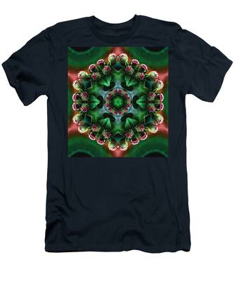 Mandala Bull Thistle Men's T-Shirt (Athletic Fit)