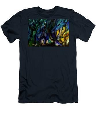 Moody Bleu Men's T-Shirt (Athletic Fit)