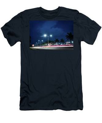 Night Lights In Montego Bay City Men's T-Shirt (Athletic Fit)