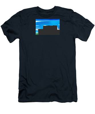 Men's T-Shirt (Athletic Fit) featuring the digital art Obstructed View by Teresa Epps