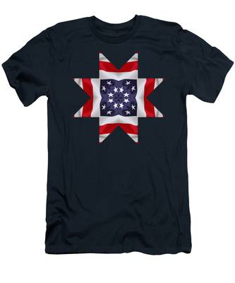 Patriotic Star 2 - Transparent Background Men's T-Shirt (Athletic Fit)