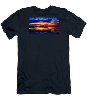 Sunrise Rainbow Reflection Men's T-Shirt (Athletic Fit)