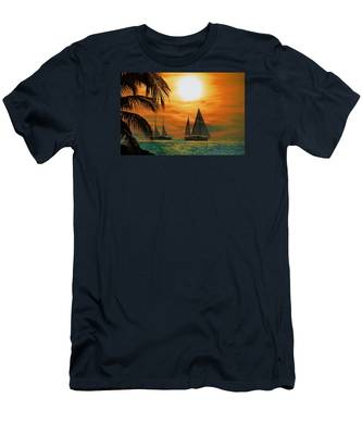 Men's T-Shirt (Athletic Fit) featuring the photograph Two Ships Passing In The Night by Bill Cannon