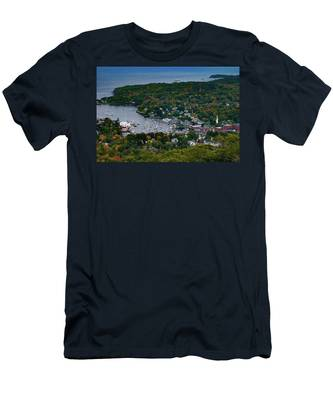 Early Fall Colors Of Camden Maine Men's T-Shirt (Athletic Fit) by Jeff Folger
