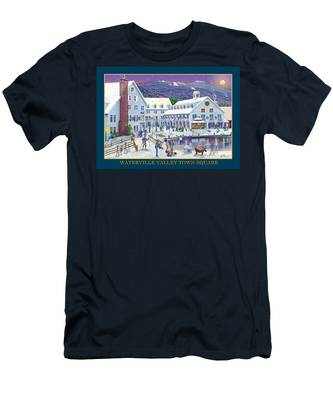 Waterville Valley At Wintertime Men's T-Shirt (Athletic Fit)