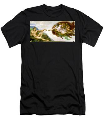 The Creation Of Adam Men's T-Shirt (Athletic Fit)