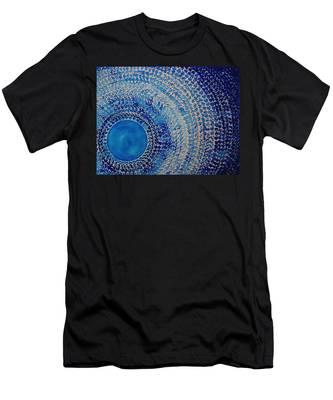Blue Kachina Original Painting Men's T-Shirt (Athletic Fit)
